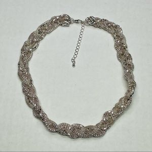 🍬Express Silver Braided Chain Necklace